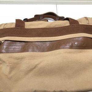 89c8b6d6e1f3 Eddie Bauer Bags - Vintage Eddie Bauer Ford Leather Canvas Duffle Bag